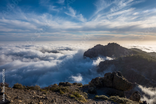 Gran Canaria mountain with clouds