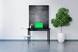 3D Visualisierung eines Laptop-Arbeitsplatzes