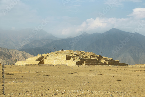 Ancient city of Caral, UNESCO world heritage site, Peru