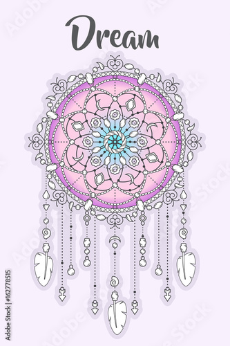 boho-style-dream-catcher-with-beads-and-feathers-hand-drawn-vector-illustration-for-posters-prints-and-textile