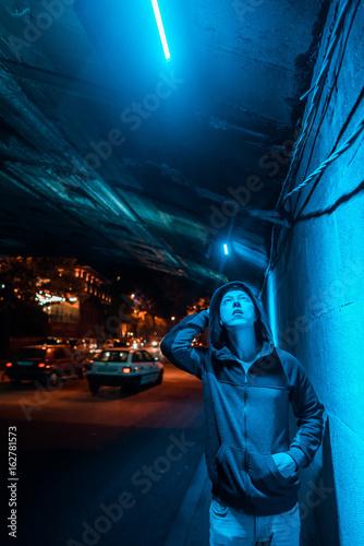Poster Man under the bridge