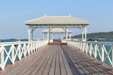 Asadang Bridge or wooden Bridge of Koh Si Chang Island.