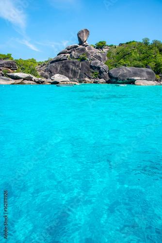 Sailing Rock,similan island national park, Phang nga, Thailand