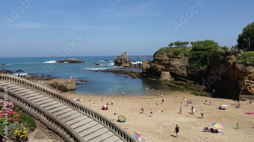 Atlantik-Strand mit Treppe zum Meer