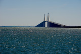 Sky way bridge over Tampa Bay
