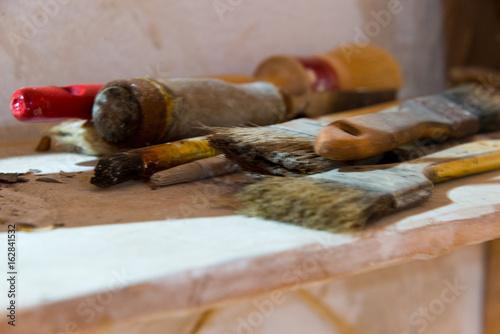 tools in restoration workshop
