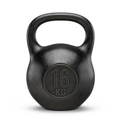 Kettlebell gym weight isolated on white background. 3d render © Sashkin