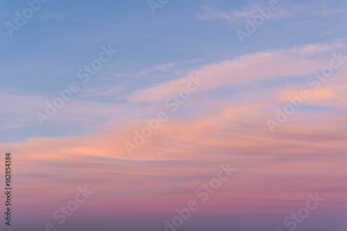 Magnificent sky scape at sunset on a summer day.