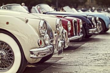 automobili d'epoca in mostra