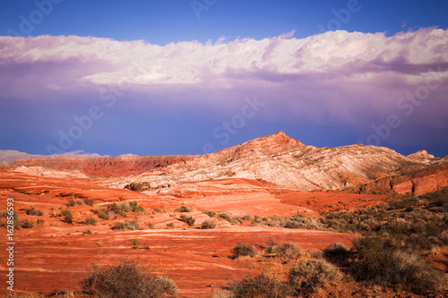 View of mountain formation at Valley of Fire State Park, Nevada