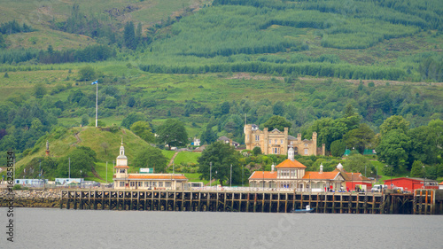 Victorian buildings on the pier at Dunoon on the Firth of Clyde