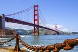 Amazing view over Golden Gate Bridge in San Francisco - SAN FRANCISCO - CALIFORNIA - APRIL 18, 2017