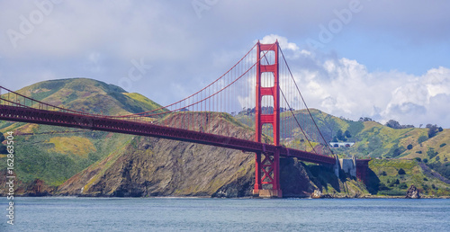 Fotobehang San Francisco Amazing view over Golden Gate Bridge in San Francisco - SAN FRANCISCO - CALIFORNIA - APRIL 18, 2017