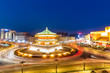 starting point of silk road, xian at night