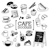 Cafe Doodle, Hand drawing styles of cafe objects