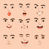 Different facial expressions of human - 162873776