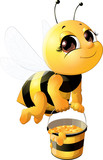 Beautiful bee with a bucket - 162875992