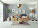 Attic floor design - 162877929