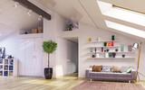Attic floor design - 162877946