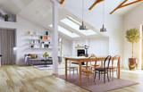 Attic floor design - 162877947