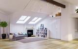 Attic floor design - 162877951