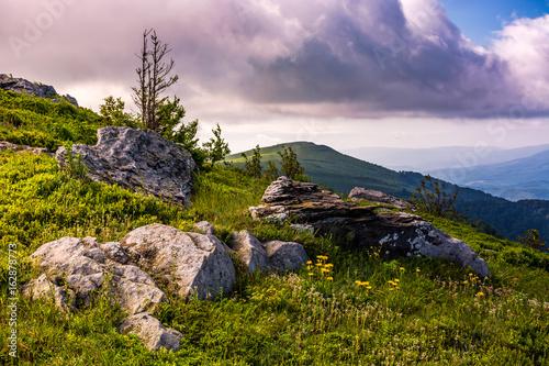 epic sunrise in high mountain ridge Poster