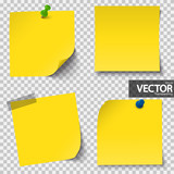 colored sticky papers with vector transparency - 162880993