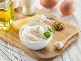 Natural mayonnaise ingredients and the sauce itself. - 162886390