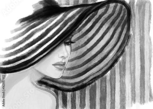 Elegant lady. fashion illustration