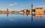 View over Stockholm City-hall and Riddarholmen island. - 162888569