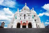 Słynny na całym świecie Sacre Coeur kościoła, Paryż, Francja, retro toned