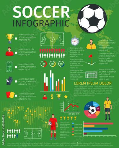 Vector infographics for soccer football sport game