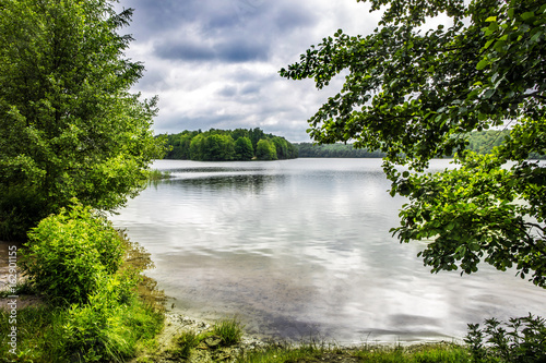 A summer day without sun at Liepnitzsee in Brandenburg (Germany)