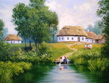 Village, Ukraine, landscape, oil paintings - 162904119