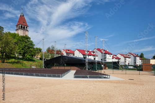 Square In Wladyslawowo With Amphitheatre And Town Skyline, Poland
