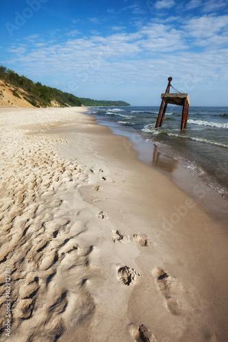Beach and Coast of the Baltic Sea in Poland