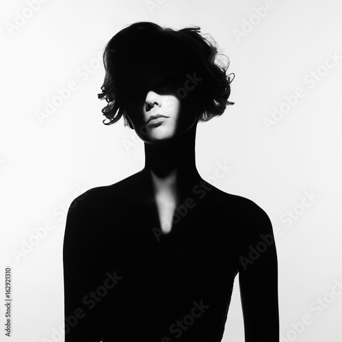 Surrealistic portrait of young lady