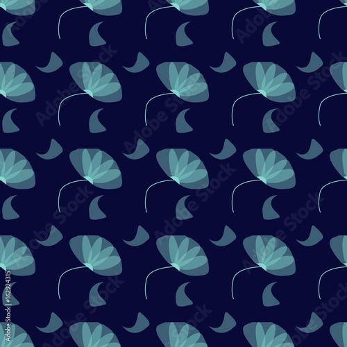 Pattern Con Fiori Celesti Su Sfondo Blu Buy Photos Ap Images