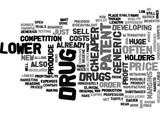 WHY ARE GENERIC DRUGS CHEAPER TEXT WORD CLOUD CONCEPT - 162926125