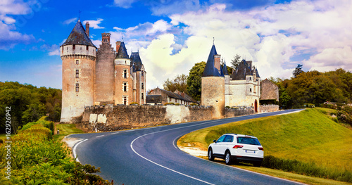 Travel in France - beautiful castles of Loire valley - Montpoupon