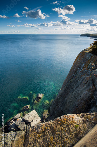 cliff on lake