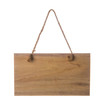 Wooden signboard hanging from a rope isolated on a white background - 162938113