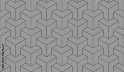 Seamless gray asian trilateral pattern vector