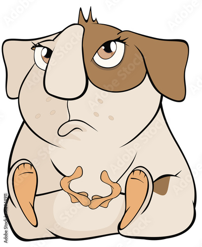 Illustration of a Funny Brown Guinea Pig. Cartoon Character