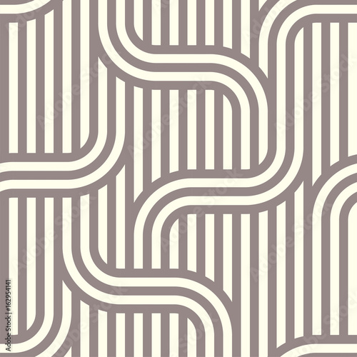 Fototapeta Seamless striped abstract pattern background. Vector.