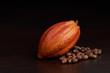 Organic raw cacao pod