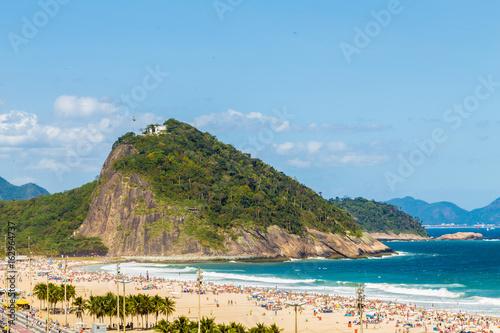 In de dag Rio de Janeiro Aerial view of Copacabana in Rio de Janeiro, Brazil