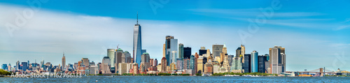 Skyline of Manhattan in New York City, USA - 162966133