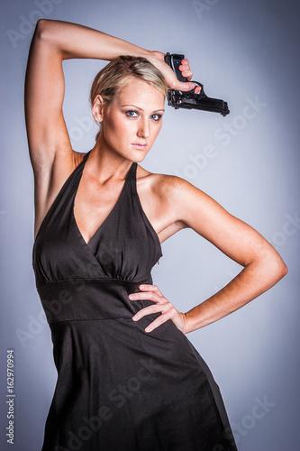 Female Spy with Gun