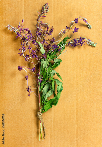 Fireweed. Dried herbs. Herbal medicine, phytotherapy medicinal herbs.